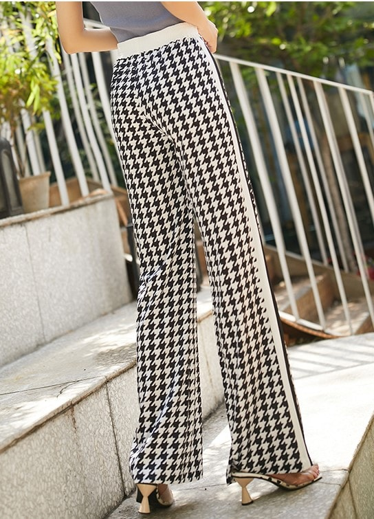 Black & White Printed Trouser Pants | Irene – Red Velvet