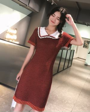 Irene Doll Collar Red Dress (3)
