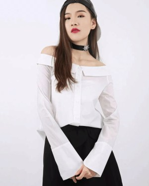 Irene Off-Shoulder White Long Sleeve Blouse (1)