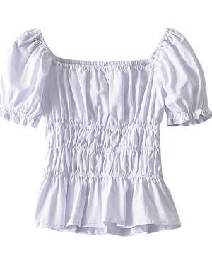 Jisoo Elastic Fit Puff Sleeve Blouse (9)