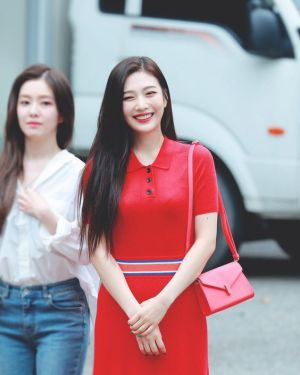 Red Knit Long Dress | Joy – Red Velvet