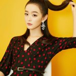 V-Neck Red Polka Dots Dress | Lisa – BlackPink