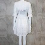 White Embroidery V-Neck Dress | Lisa – BlackPink