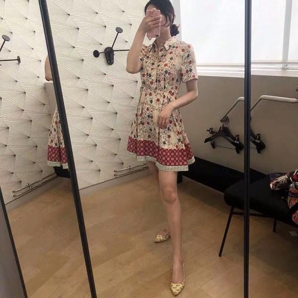 Floral Print Collared Shirt Dress | Momo – Twice