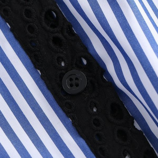 Striped Long Sleeve Lace Shirt   Yuqi – (G)I-DLE