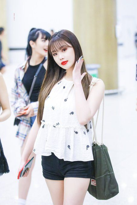 Embroidered Hanging Neck White Top   Soojin – (G)I-DLE