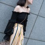 Black Off-Shoulder Long Sleeved Blouse | Jennie – BlackPink