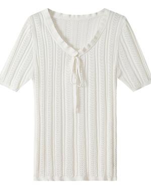 Jennie Ruffle Neck Knit Top (2)