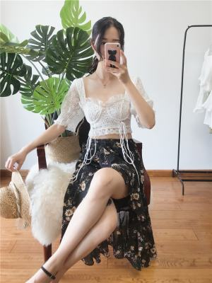 Joy White Lace Crop Top (1)