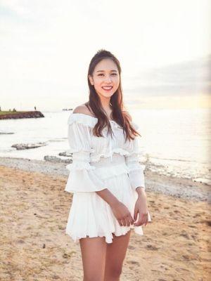 White Lace Blouse And Pleated Skirt Set    Mina – Twice