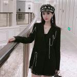 Chain Tassels Black Suit Jacket   Rose – BlackPink