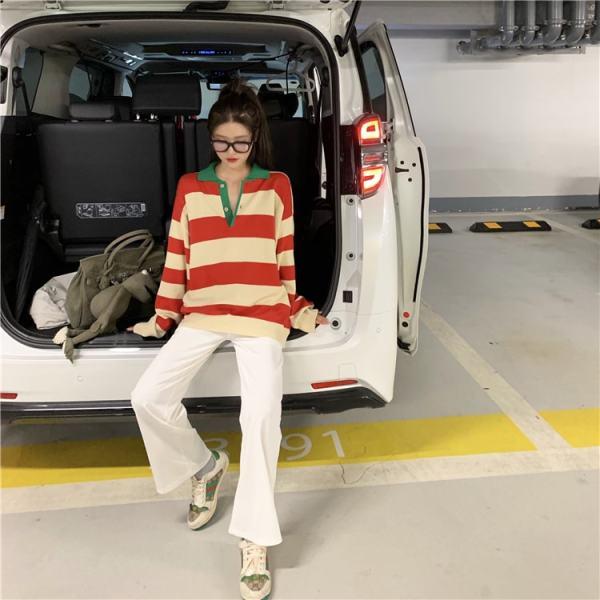 Long Sleeved Striped Sweatshirt | Taehyung -BTS
