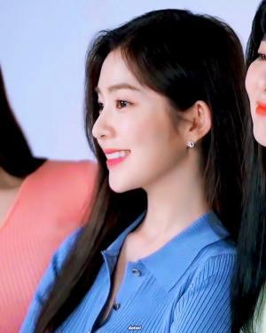 Blue Polo Collared Short Sleeved Striped Shirt | Irene – Red Velvet