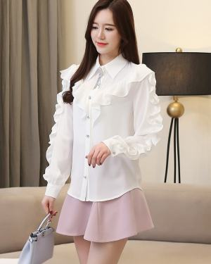 Irene Ruffled Long Sleeve Blouse (7)