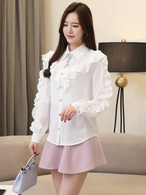 Irene Ruffled Long Sleeve Blouse (7)