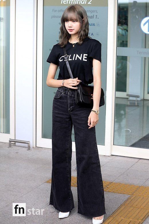 Black Wide Legged Jeans | Lisa – BlackPink