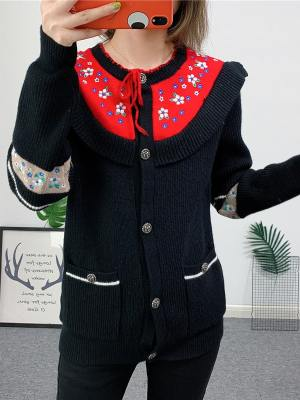 Chaeyoung Flower Embroidered Knit Cardigan (9)