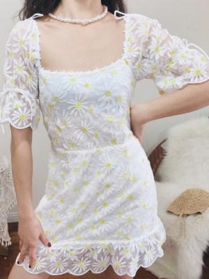 Hyuna Flower Embroidered Dress (5)