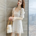 Flower Embroidered Dress | Hyuna