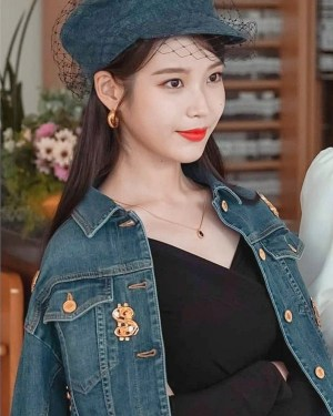 Dollar Sign Denim Jacket | IU – Hotel Del Luna