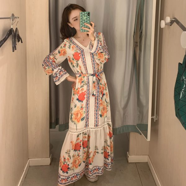 Retro Floral Dress | IU – Hotel Del Luna