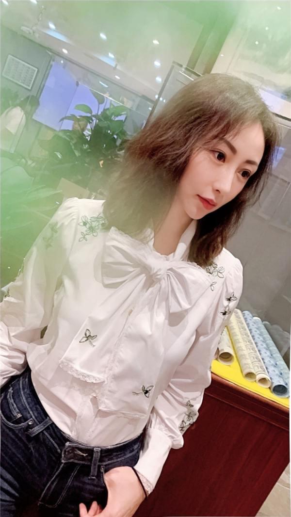 White Flower Embroidered Shirt   IU – Hotel Del Luna