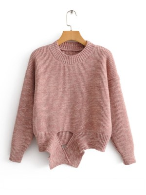 Irene Pink Deconstructed Sweater (1)