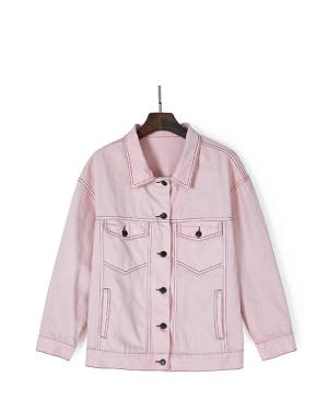 Jungkook Pink Denim Jacket (4)