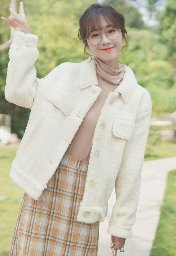 Creamy White Soft Jacket