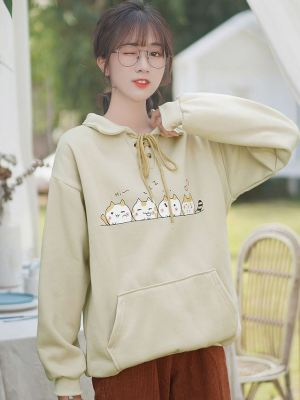 Cute Cat Illustration Hoodie (1)