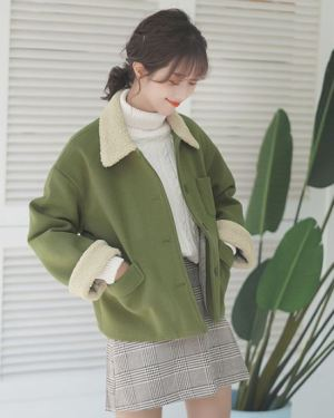 Cute Green Korean Jacket