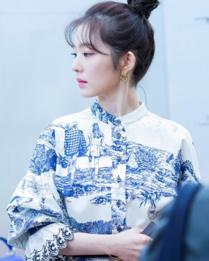 Landscape Scenery Print Shirt Dress | Irene – Red Velvet