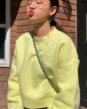 Jennie Light Green Sweatshirt (9)