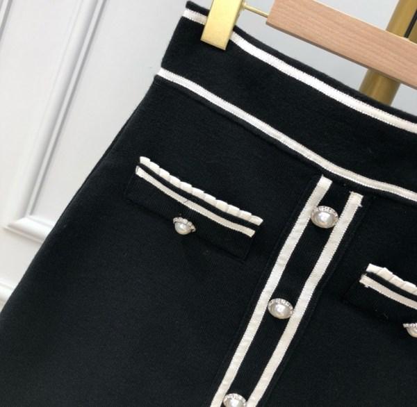 Black Front Buttons Knit Skirt   Jisoo – BlackPink