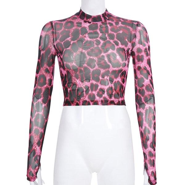 Pink Leoprint See-Through Shirt | Lisa – BlackPink
