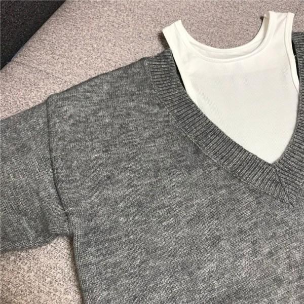 Bi-layer V-Neck Knit Sweater | Nayeon – Twice