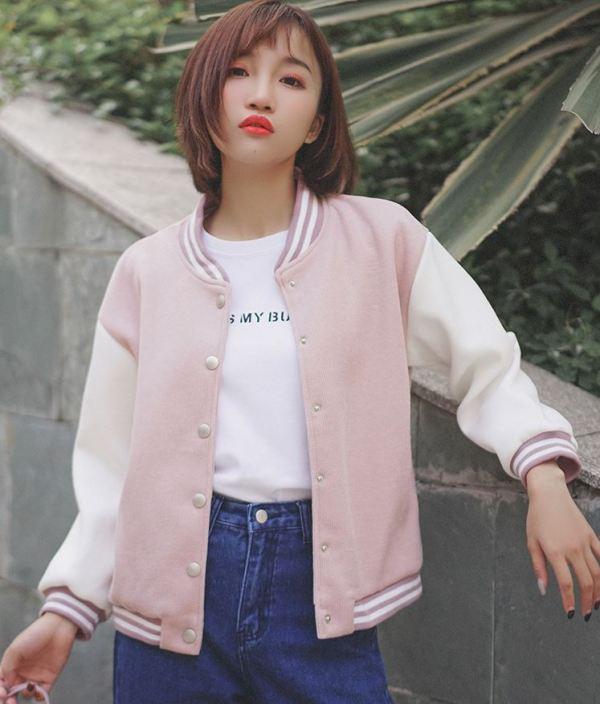 Pink College Jacket