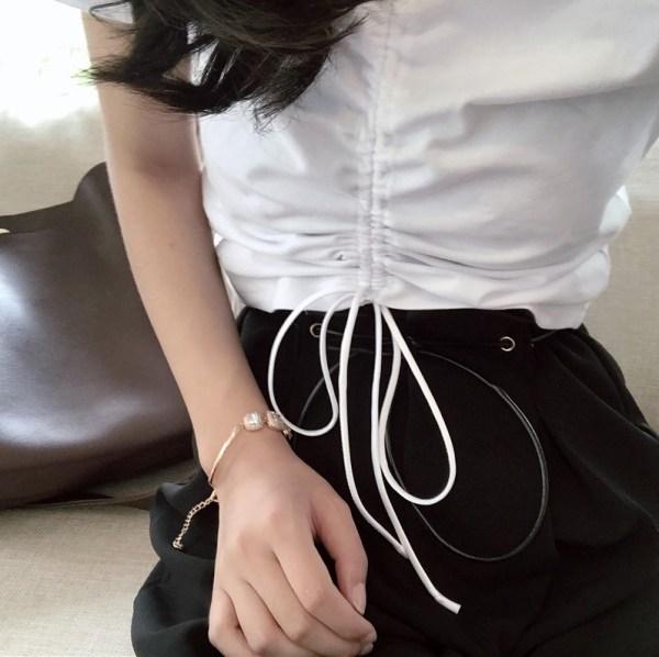 Belly Free Top With Adjustable Strap | Rose – BlackPink