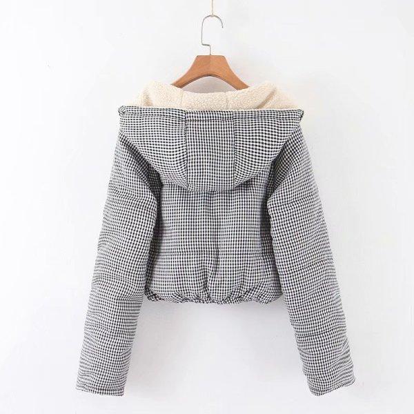 Plaid Zipper Hooded Jacket | Rose – BlackPink