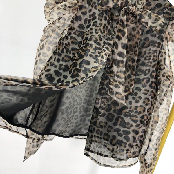 Leopard Print Semi-Transparent Blouse | Solar – Mamamoo