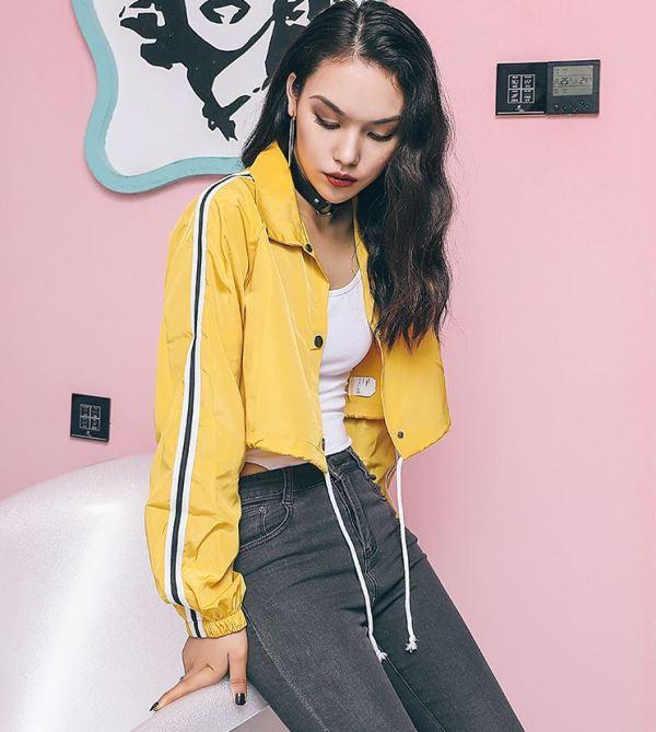 Sporty Style Crop Jacket