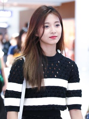 Black White Striped Sweater With Holes | Tzuyu – Twice