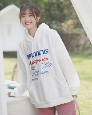 White Oversized Spinning California Hoodie (1)