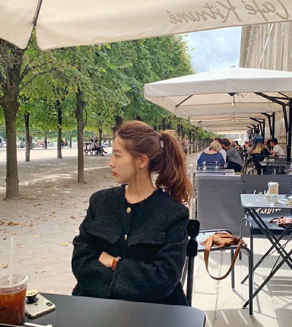 Tweed Black Jacket | Yeri – Red Velvet