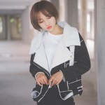 Black With Fur Collar Jacket