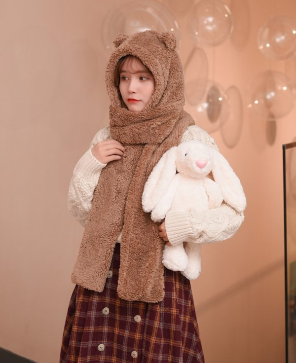 Bear Ears Winter Scarf Hat | Jennie – BlackPink