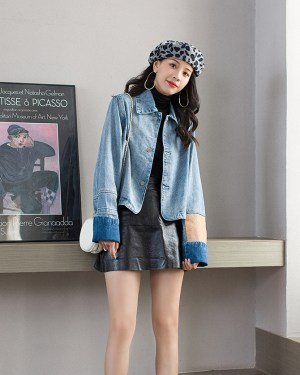 Jennie Blue Casual Denim Jacket (4)