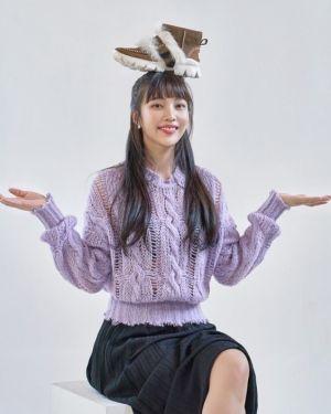 Lilac Round Neck Sweater | Joy – Red Velvet