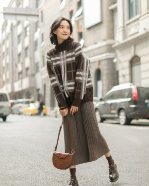 Joy Pleated Long Skirt (1)