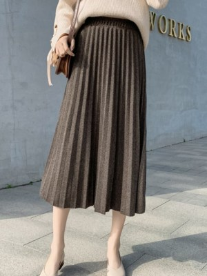 Joy Pleated Long Skirt (4)